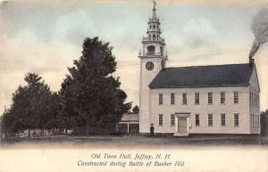 old town hall jaffrey new hampshire L4544 antique postcard