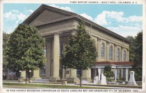 First Baptist Church, (built 1850) Columbia, South Carolina, 10-20s