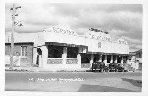 RPPC Telegraph Hotel Tenterfield, NSW Australia Bergin's c1940s Vintage Postcard