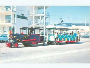 Pre-1980 TOURIST TROLLEY PULLED BY OLD TRACTOR Cape May New Jersey NJ E7304