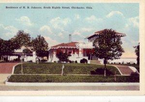 RESIDENCE OF H B JOHNSON, 8th Street CHICKASHA, OK