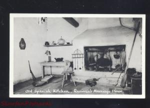 RPPC SAN DIEGO CALIFORNIA KITCHEN INTERIOR RAMONA'S MARRIAGE