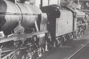 Royal Scot Sisters 46144 46153 Riflemen Train at Patricroft Station Postcard
