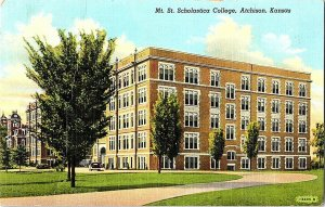 Mt. St. Scholastica College Atchison Kansas Vintage Postcard Standard View Card
