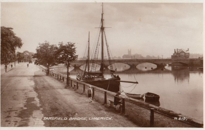 RP: LIMERICK, Ireland, 1930s ; Sarsfield Bridge