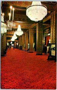 New Orleans, Louisiana Postcard ROOSEVELT HOTEL Lobby Interior View 1960s Unused
