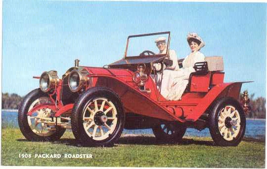 1908 Packard Roadster with Mother-in-Law Seat Model 30 Chrome