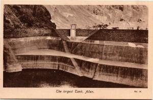 The Largest Tank, Aden Yemen Cisterns of Tawila Vintage Photo Postcard H18
