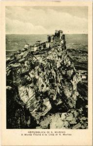 CPA Republica Di S. Marino Il Monte Titano e la Citta SAN MARINO (801927)