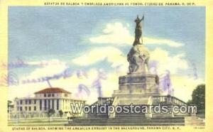 Panama Panama City Statue of Balboa