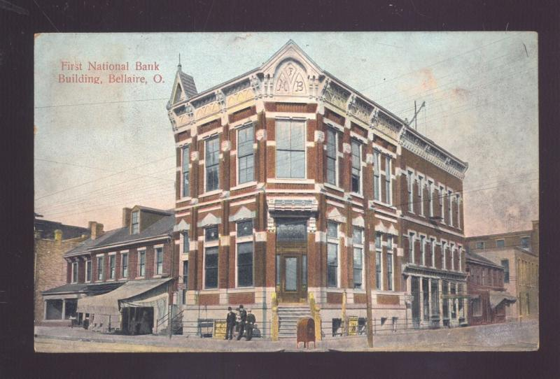 Bellaire Ohio Downtown First National Bank Building Antique Vintage
