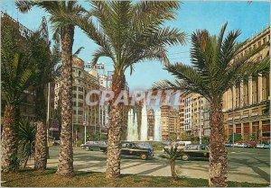 Postcard Modern Valencia Square Fountain Head Monumental