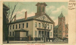 Langsdorf Company 1906 Town Hall Westfield Massachusetts Postcard 20-2732