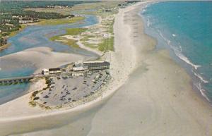 Aerial View, Expanse of White Sand Beach, OGUNQUIT, Maine, 40-60's