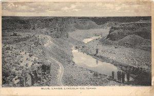 F72/ Blue Lake Lincoln County Idaho Postcard c1910 Birdseye