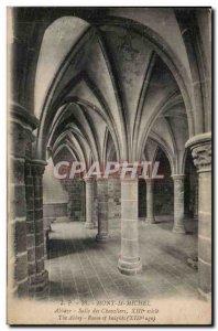 Old Postcard Mont Saint Michel Abbey Knights Hall
