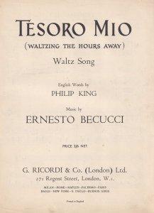 Tesoro Mio Ernesto Becucci Classical Waltz Piano Sheet Music
