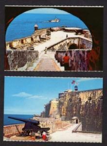 PR Lot 2 Castillo Morro SAN JUAN PUERTO RICO Postcards
