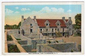 Fort Ticonderoga, N.Y., West Barracks