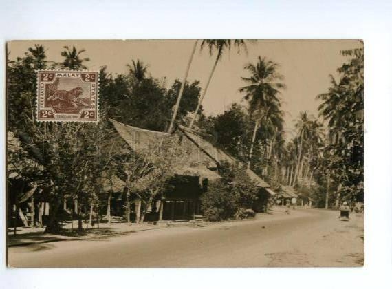 133067 MALASIA MALAY States Vintage photo postcard