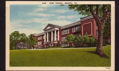 Virginia Postcard High School Bristol