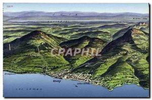 Old Postcard Lac Leman