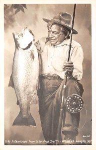 Fishing Postcard A Kamloops From Lake 32 lbs. Length 36 Unused