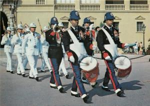Guards uniforms Monaco Palace drummers