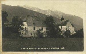 austria, GNADENWALD, Tyrol Tirol, Schloss Tierburg (1934) RPPC Postcard