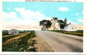 New York Bemis Heights Looking North At Saratoga Battlefield Curteich