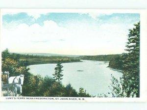 W-border RIVER SCENE Fredericton New Brunswick NB AE6396