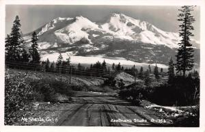 Mount Shasta, California, Early Real Photo Postcard, Unused
