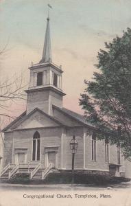 TEMPLETON, Massachusetts, PU-1912; Congregational Church