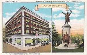 2-Views, Francis Scott Key Hotel, Grave And Monument Of Francis Scott Key, FR...