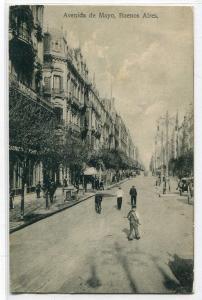 Avenida de Mayo Buenos Aires Argentina 1912 postcard