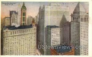 Financial District New York City NY Unused