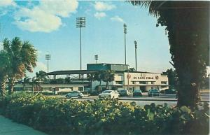 St Petersburg FL Al Lang Field, Home of Cardinals, Mets Vintage Chrome Postcard