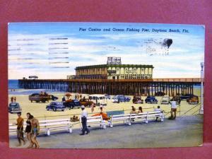 Postcard FL Daytona Beach Pier Casino & Ocean Fishing Pier