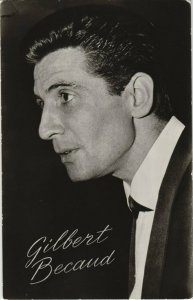 CPM AK Gilbert Becaud SINGER (768015)
