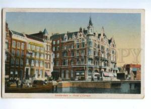 173711 NETHERLANDS AMSTERDAM Hotel L'Europe Vintage postcard