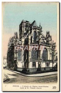 Old Postcard Rouen The Apse of the Church of Saint Vincent