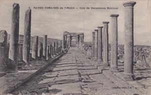 Algeria Timgad Vole de Decumanus Maximus