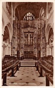 The Screen, Winchester Cathedral, Interior, Real Photograph