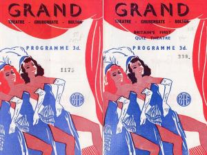 Bolton Manchester Quiz Night 1950s TWO Theatre Programme s