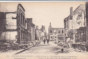 Guerre Europeenne, A Part Of The Town After The Bombardment, Albert (Somme), ...