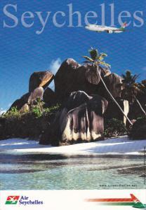 SEYCHELLES, Air Seychelles ad postcard , 80-90s