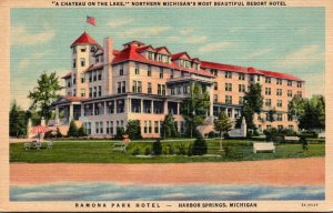 Michigan Harbor Springs Ramona Park Hotel 1957 Curteich