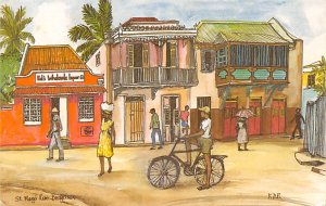 Barbados West Indies Post card Old Vintage Antique Postcard St. Mary's R...