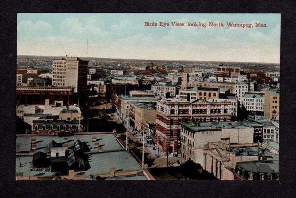 MB Bird's Eye View Winnipeg Manitoba Carte Postale Postcard Canada PC Vintage