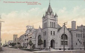First Christian Church & Munroe Street , JACKSONVILLE , Florida , 1900-10s